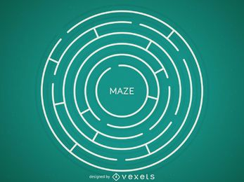 Round maze illustration