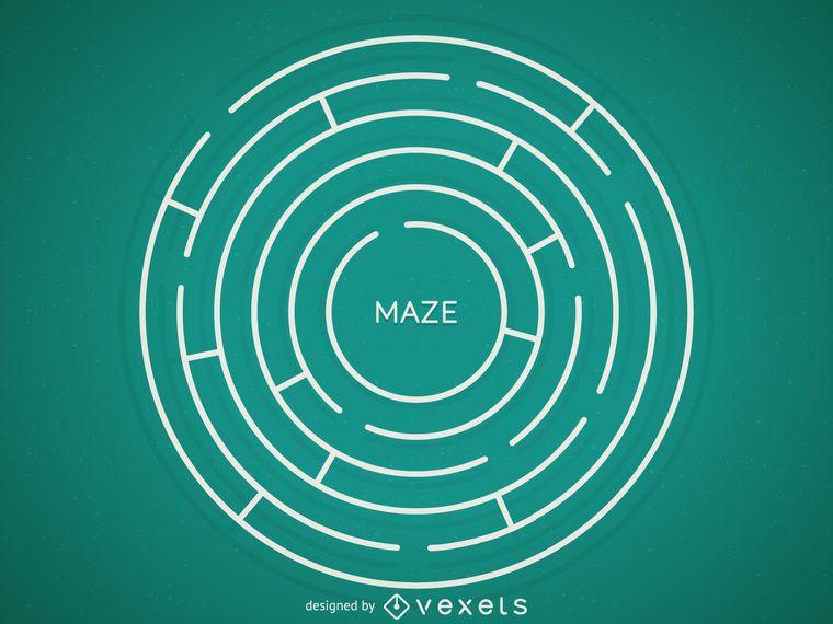 Round maze illustration