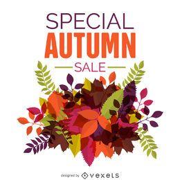 Diseño de venta de otoño