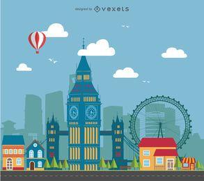 Paisagem da cidade de Londres
