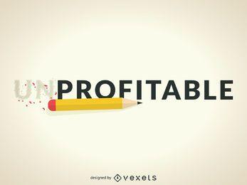 Não lucrativo para ilustração lucrativa