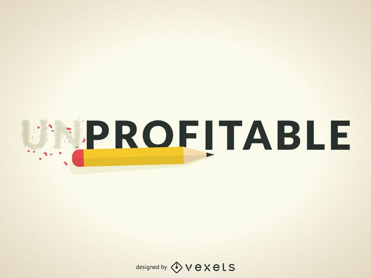Unprofitable to profitable illustration