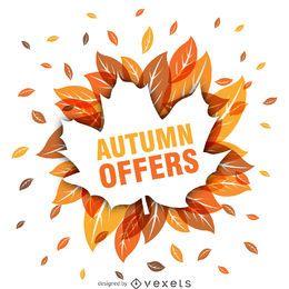venda do outono com folhas