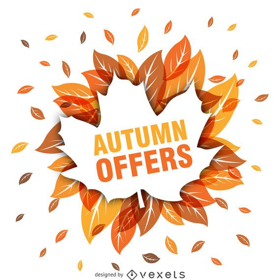 Autumn sale with leaves