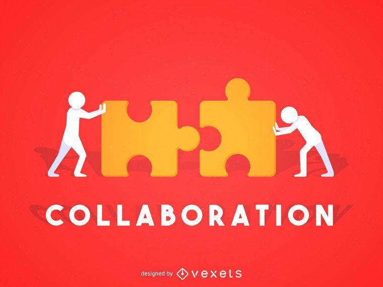 Collaboration concept illustration