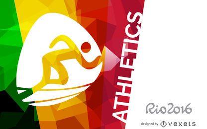 Bandera de atletismo Rio 2016