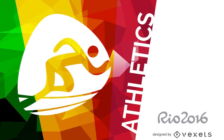 Rio 2016 athletics banner