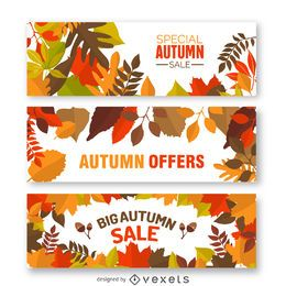 Herbst Verkauf Banner gesetzt