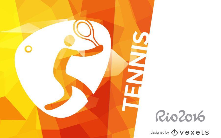 Rio 2016 tennis poster