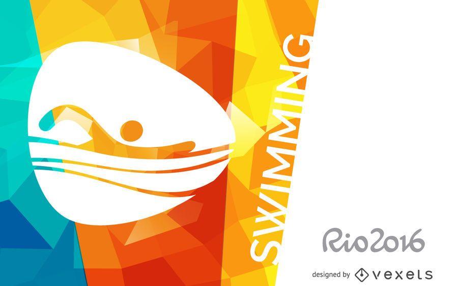 Banner de natación Rio 2016