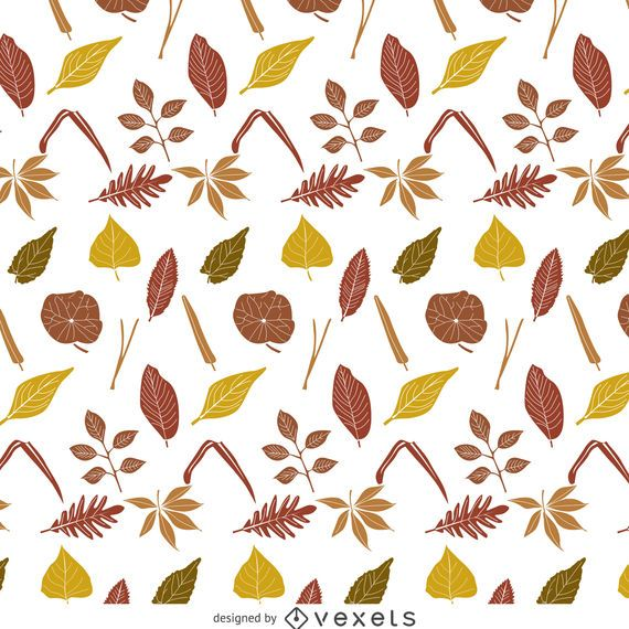 Dark autumn leaves pattern