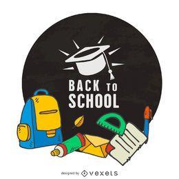 Zurück zum Schuletikettenrahmen