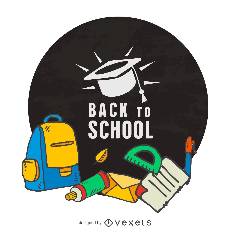 Marco de etiqueta de regreso a la escuela