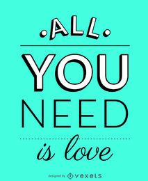 Tudo que você precisa é um pôster de amor