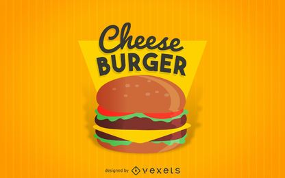 Etiqueta de hamburguesa con queso