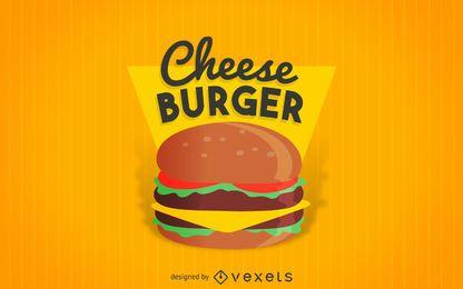 Etiqueta de hamburguesa de queso