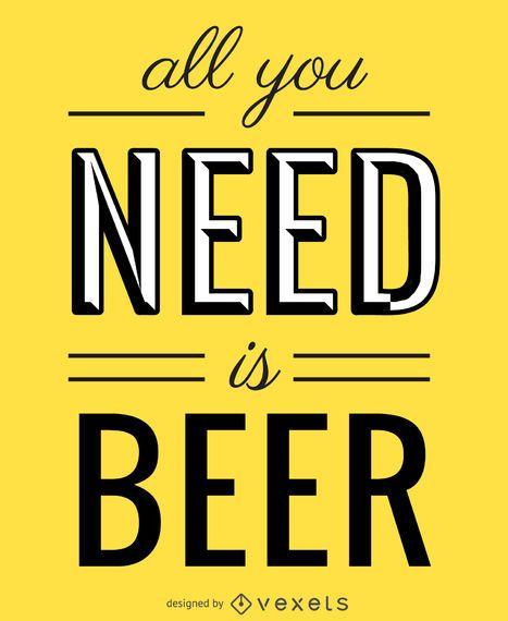 Todo lo que necesitas es un póster de cerveza.