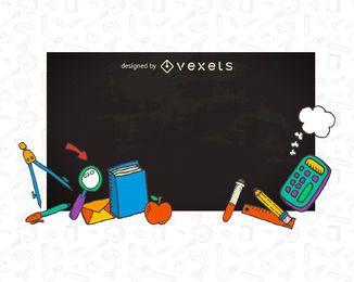 School chalkboard banner