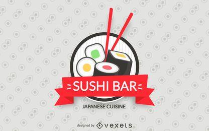 Etiqueta de barra de sushi