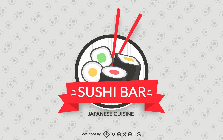 Rótulo de sushi bar