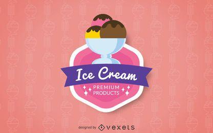 Insignia del logo de helado