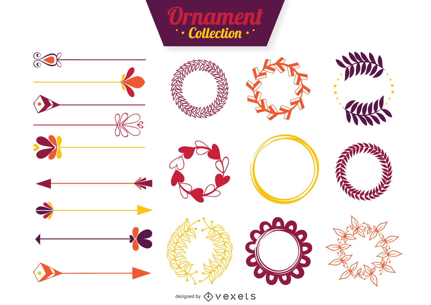 Flat ornament collection