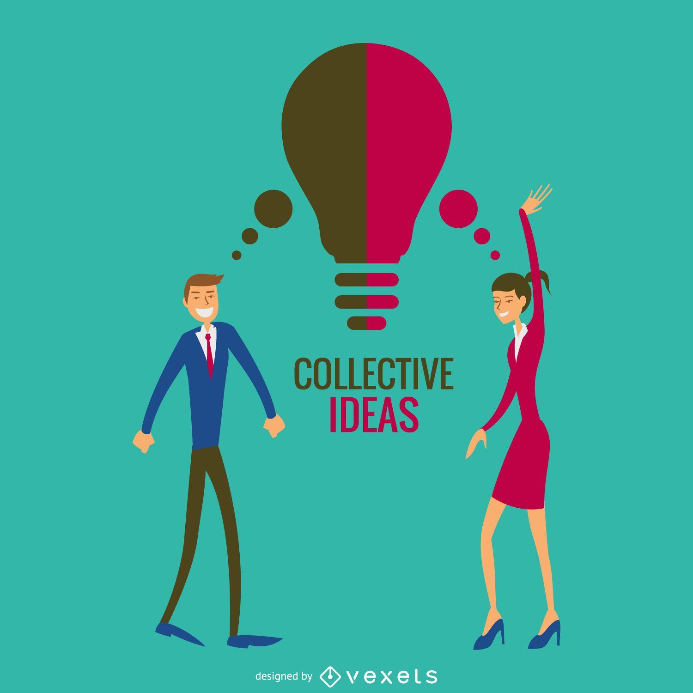 Team ideas illustration
