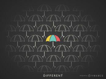 Ilustración de concepto diferente