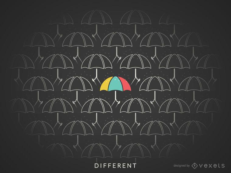 Different concept illustration