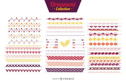 Ornamental dividers ribbons collection