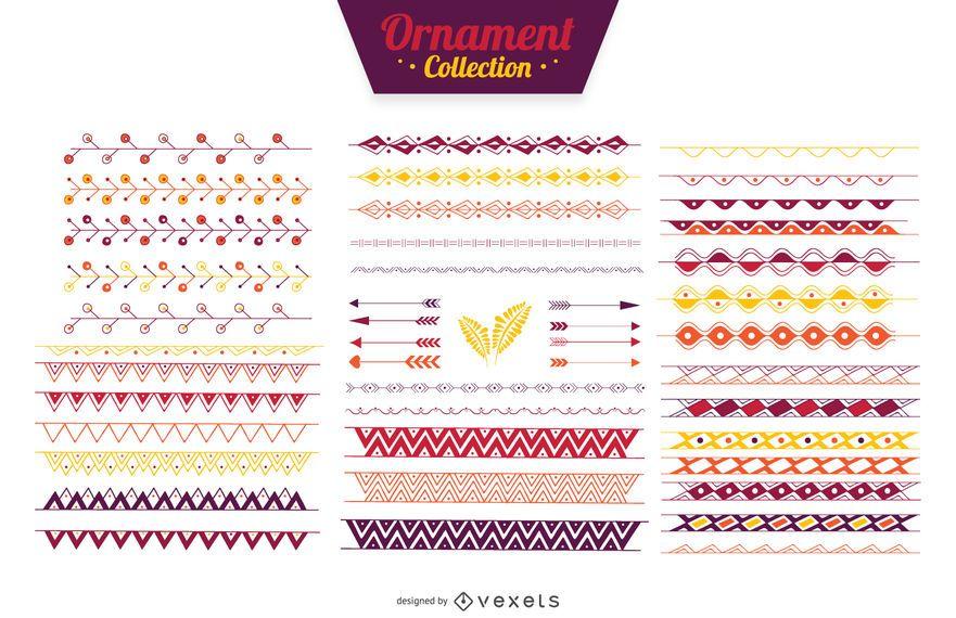 Ornamental Teiler Farbband Sammlung