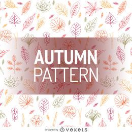 Autumn leaves padrão do contorno
