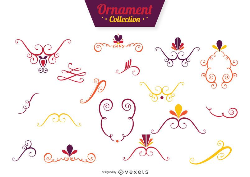Decorative swirls collection