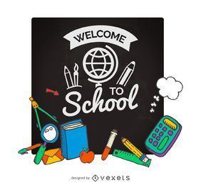 Volta ao cartaz da escola