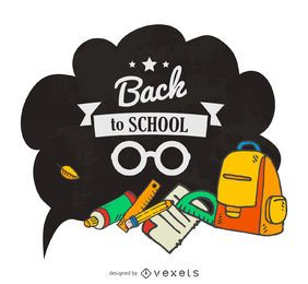 Back to school speech bubble
