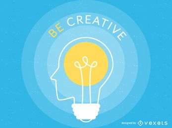 Cartaz de ilustração de criatividade