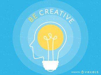 Cartel de ilustración de creatividad
