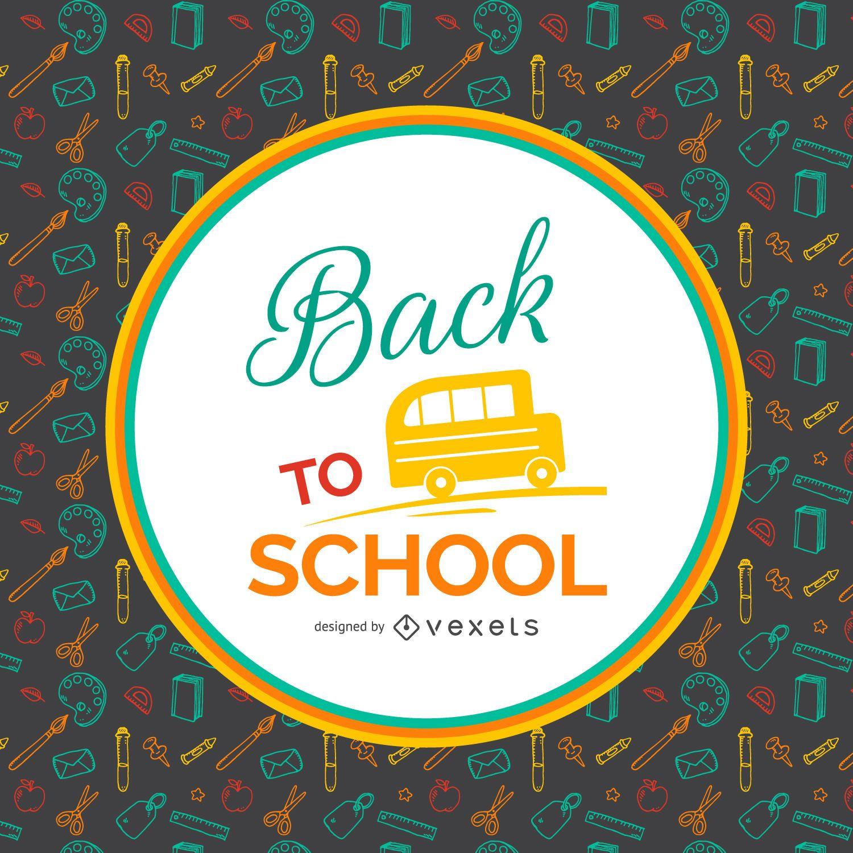 Fondo de regreso a la escuela con etiqueta