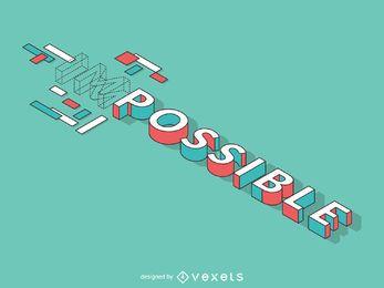Plano imposible de posible ilustración