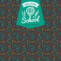Back to school pattern badge