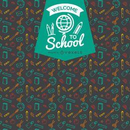 Zurück in die Schule Musterabzeichen