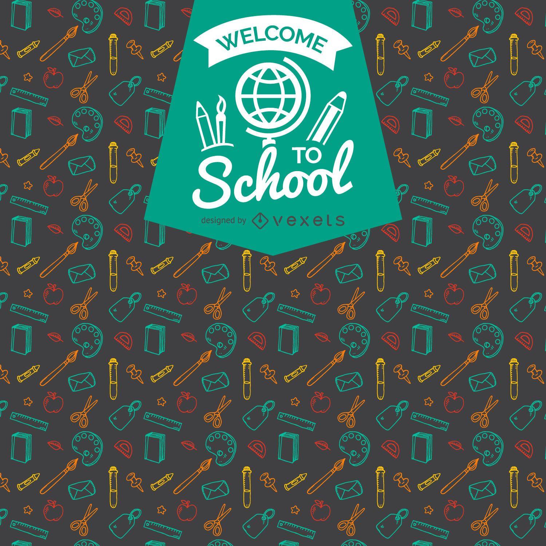 Back to school pattern badge