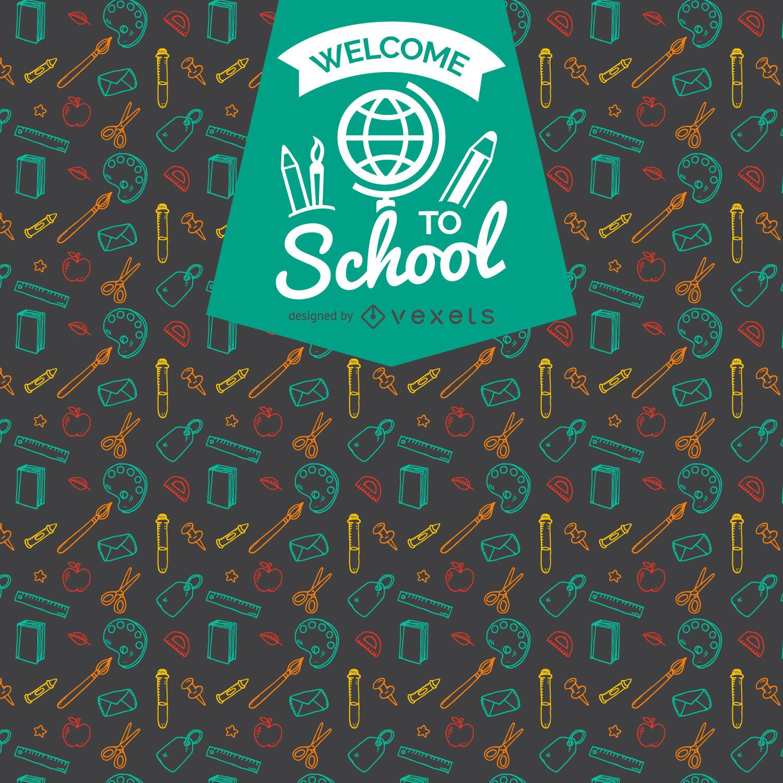 Insignia de patrón de regreso a la escuela