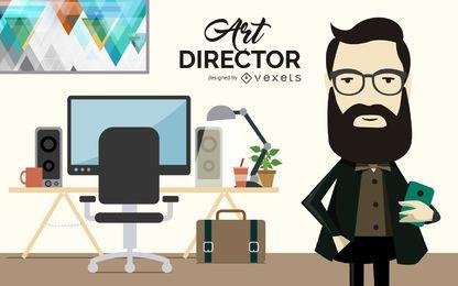 Ilustração de diretor de arte plana