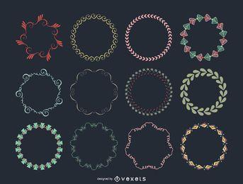 Coleção de quadros de círculo