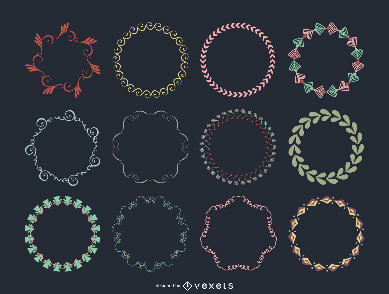 Colección de marcos circulares