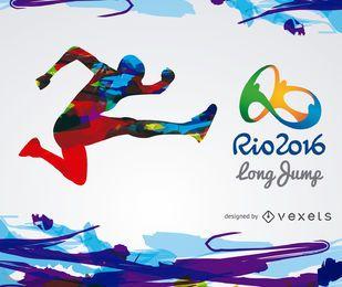 Banner de salto em distância Rio 2016