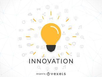 Ilustração do conceito de inovação