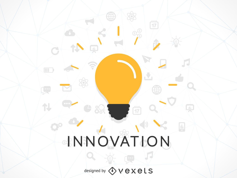 Ilustración del concepto de innovación