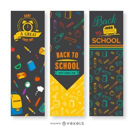 Back to school vertical banners